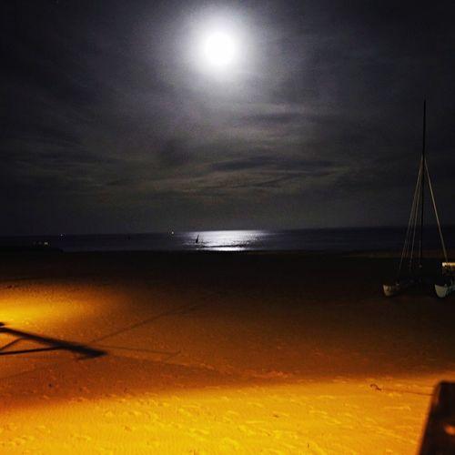 Mond auf Sylt Mond Moon Sylt Strand Night