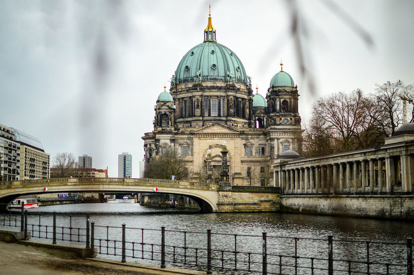 Wonderful Berlin Cathedral Berlin Cathedral Berlin Photography City Life Tourist Attraction  Architecture Building Exterior Built Structure City Cloud - Sky Day Dome Focus On Background No People Outdoors Place Of Worship Religion River Sky Spirituality Travel Destinations Water