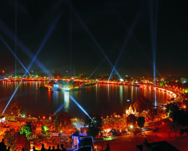 Kankaria Lake Ahmedabad Multi Colored Travel Destinations