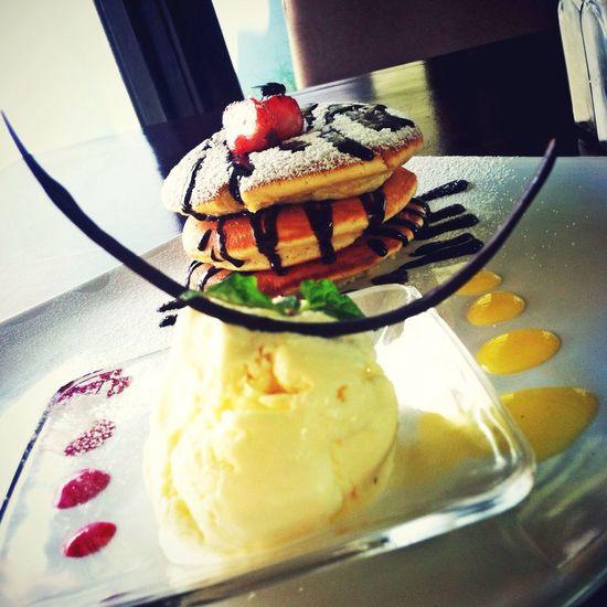Banana Pancake Ice Cream Desert Restaurant