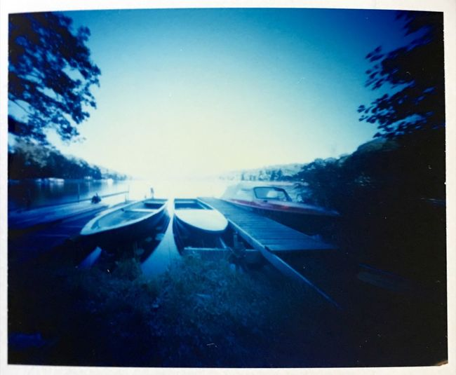 a day at the Lake Pinhole Photography Analogue Photography Film Photography Fuji Fp 100C Pinhole Lake View Afternoon Boat Relaxing Quiet Moments Summer Quality Time Outdoors Nature Tranquility Enjoying Life
