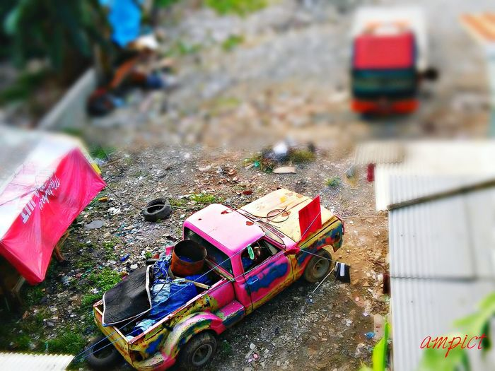 Miniature Old Pick Up Loaded Lgcamera