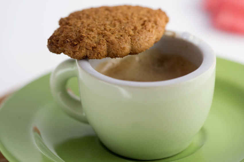 dipping a biscuit in a coffee at breakfast Biscuit Breakfast Coffee Cookie Dipp Dipping Dunk Dunking Espresso Morning