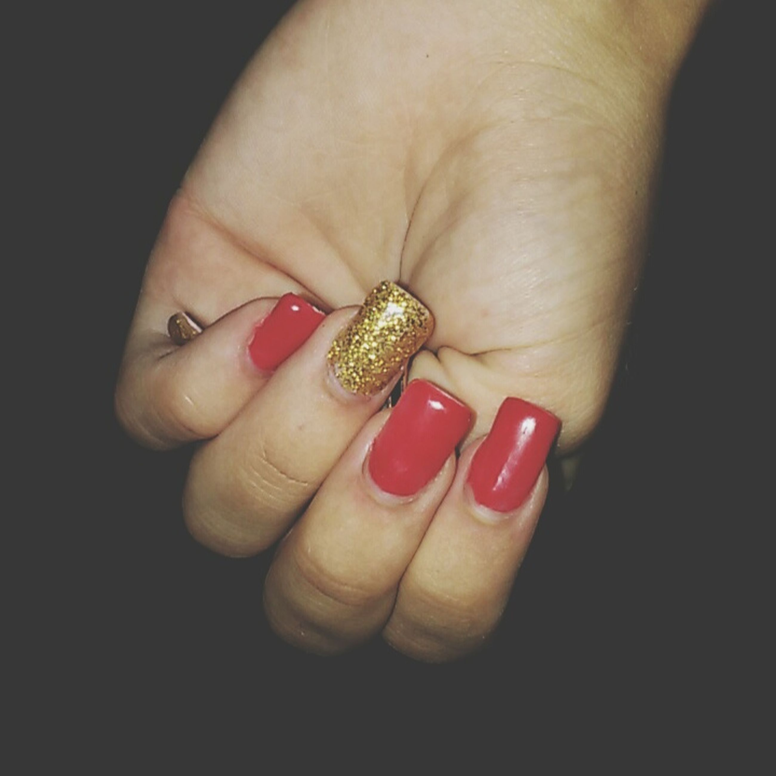 person, part of, holding, human finger, cropped, close-up, studio shot, unrecognizable person, ring, palm, red, nail polish, showing, lifestyles, personal perspective, indoors