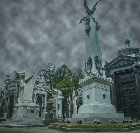 Travel Destinations Sky Statue Architecture Sculpture Building Exterior Recoleta Cemetery Argentina Photography Argentina History