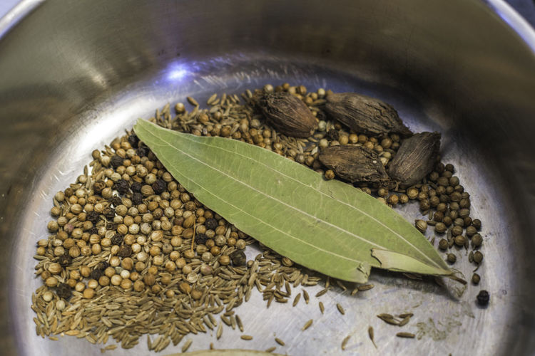 Bay Leaf Black Cardamom Cardamom Close-up Cooking Coriander Coriander Seeds Cumin Cumin Seed Dry Roasting Food Food And Drink Food And Drink Fresh Freshness Freshness Healthy Eating Indian Food Indoors  No People Pods Roasting Roasting Spices Seeds Spices
