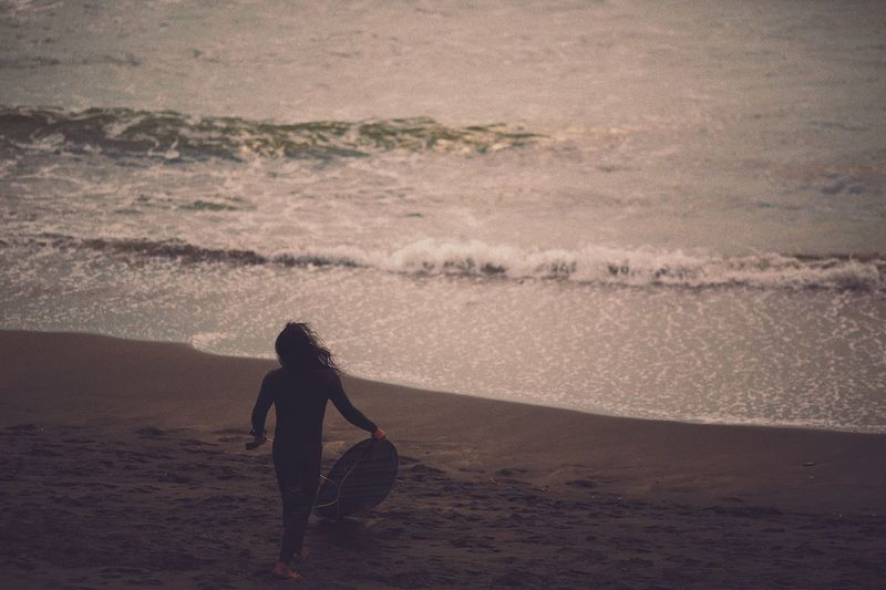 Beach Sand Shore Sea Leisure Activity Surf Early Morning