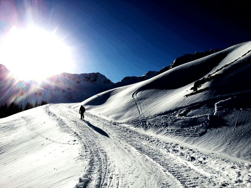 Snow Winter Sunlight Sun Lens Flare One Person Landscape Outdoors Mountain Adults Only People First Eyeem Photo Nature Sport One Man Only Only Men Adventure Beauty In Nature Adult Kitzbühel Kitzbüheler Alpen Snow Sports Igers Igersoftheday EyeEmNewHere