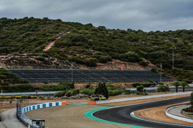 High angle of racetrack