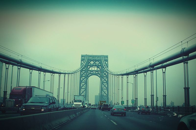 NYC Bridge New York City Street Photography Street View Carview Cars Traffic Movie Style