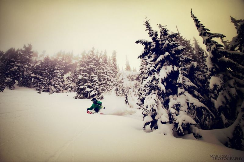 Winter Slash // Hoping for some more storm days soon // Whistler, BC Winter White By CanvasPop