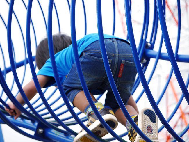 青 Blue Park Playing Kids My Son Playground Cloudy Day Learn & Shoot: Leading Lines Blue Line