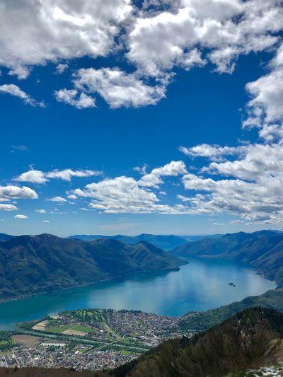 Ticino Love Ticino Turismo Locarno Lago Maggiore Brissago Islands Locarno, Switzerland Ticino Panoramic Photography Panorama Sky Cloud - Sky Scenics - Nature Beauty In Nature Blue Tranquility Day Water Outdoors Idyllic Landscape