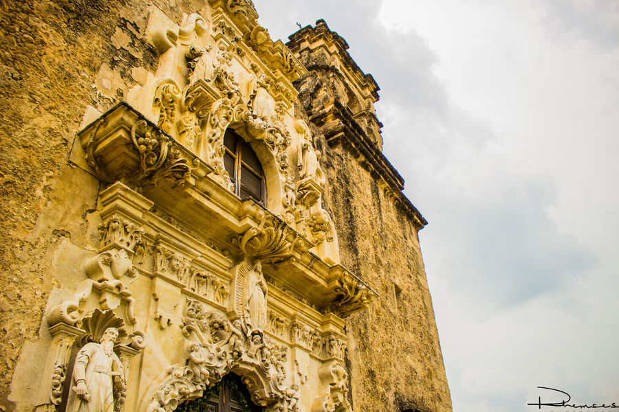Mission San Jose Arch Architecture Building Exterior Built Structure Canon Canonphotography Church Cloud Cloud - Sky Famous Place History Landscape Low Angle View Mission Photographer Picture Place Of Worship Religion Rhemses San Antonio Texas San Jose Scenery Sky Spirituality Texas