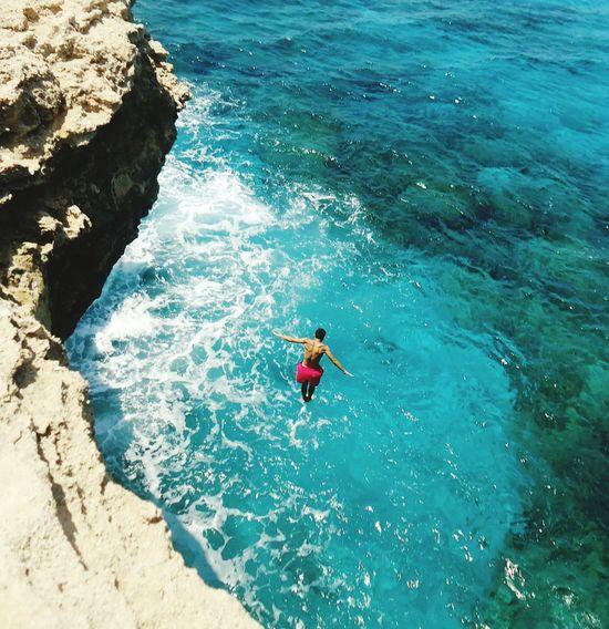 Cobalt Blue By Motorola Life Is A Beach Done That. Cyprus Kavo Gkreko Jumping CliffJumping Photography Summer EyeEm Best Shots