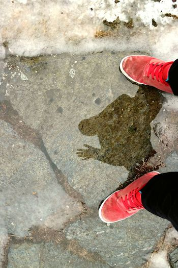 Shoes That's Me Photographer Puddle Water Reflection Rain Crispy Rainy Days Puddleography