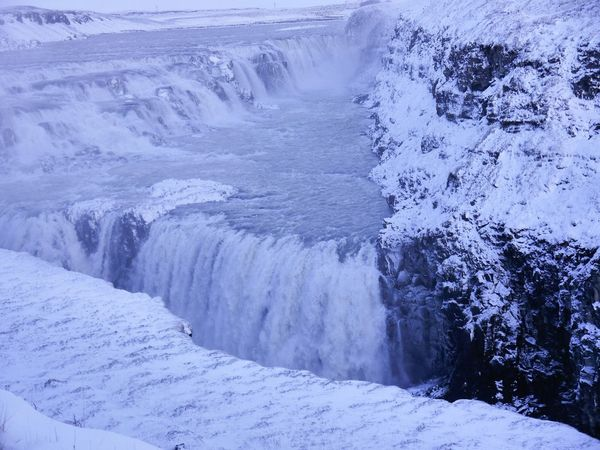 Gulfoss In Iceland Ice Snow Nature Frozen Cold Temperature Winter Beauty In Nature Outdoors No People Tranquil Scene Tranquility Day Scenics Water Wave Hot Spring Travel Destinations The Great Outdoors - 2017 EyeEm Awards EyeEm Selects Breathing Space The Week On EyeEm Budget Traveller my first solo Eurotrip. DIY Itinerary. Your Ticket To Europe Mix Yourself A Good Time Been There. Done That. Lost In The Landscape Perspectives On Nature An Eye For Travel Shades Of Winter