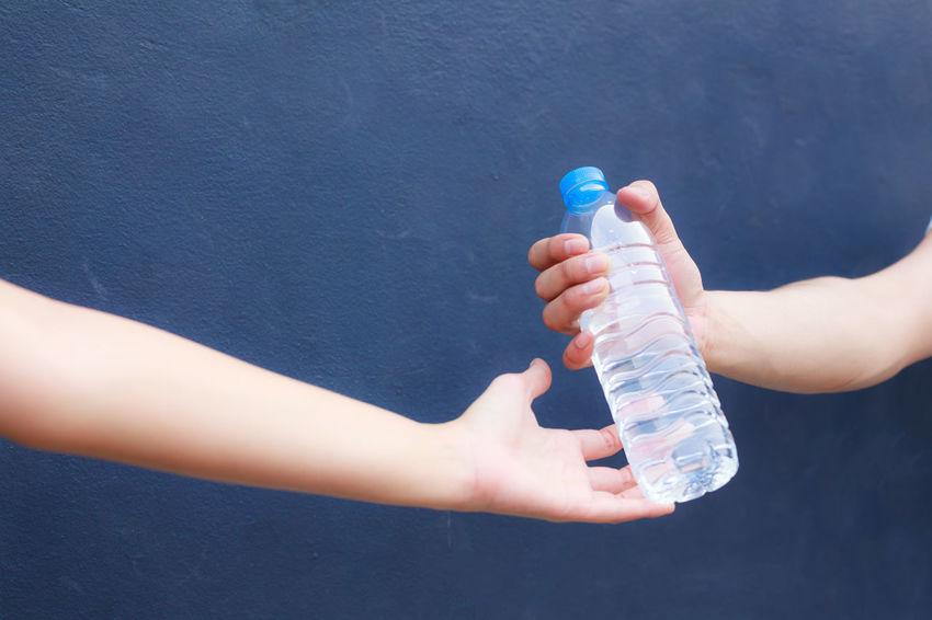 Drinking Water Exercise Healthcare Medicine Pure Spring Water Bottle Break Care Clean Day Hand Healthy Eating Heat Human Hand Hydrate  Mineral Natural Water Outdoors Plastic Rest Sport Tired Training Water