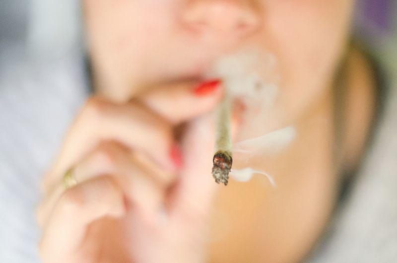 Addiction RISK Bad Habit Lifestyles Smoking Marijuana Smoke One Person Close-up Real People Focus On Foreground Human Body Part Indoors  Women