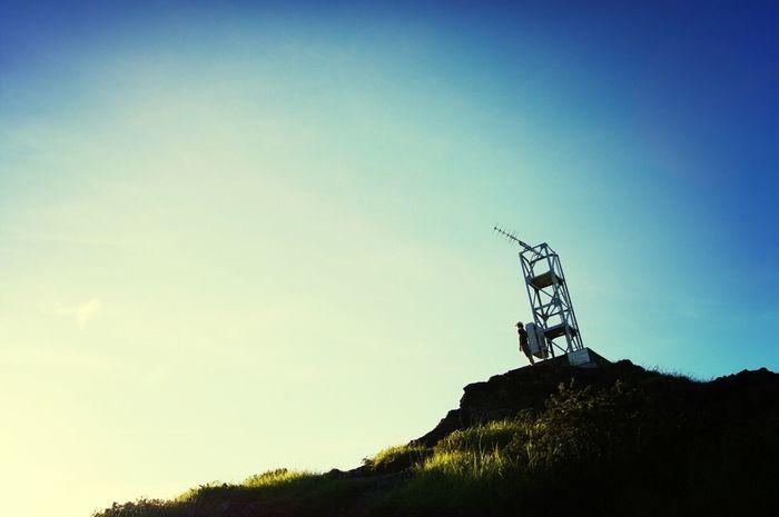 今日は晴天。傘山という、島を見渡せる高台へ行ってきました。
