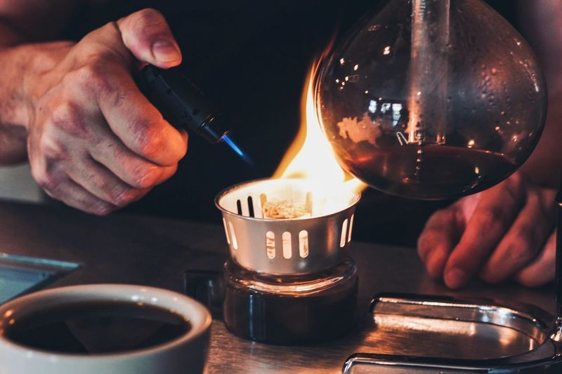 Coffee Morning Coffee Maker Caffeine Brewing Hand One Person Human Hand Real People Human Body Part Holding Close-up Indoors  Flame Food And Drink Fire Drink Refreshment HUAWEI Photo Award: After Dark Autumn Mood