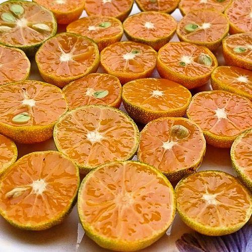 Close-up of sliced mandarin