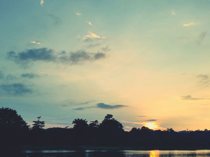 The sunset from my jogging track. Sunset Nature Filter Jogging