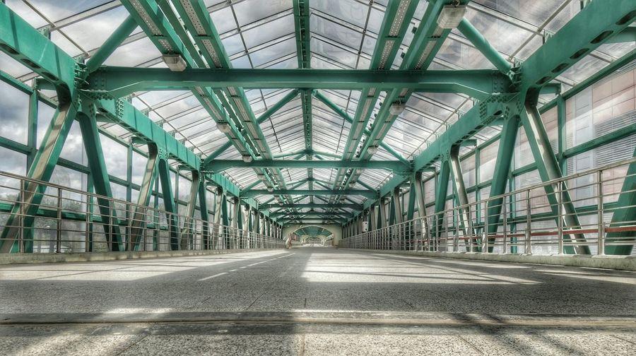 Empty corridor in modern building