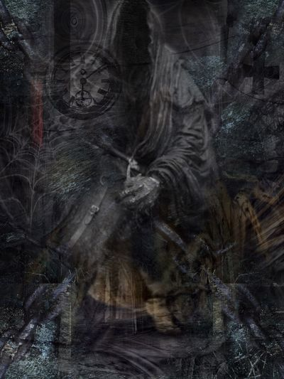 The Black Lens Occult Darkart Dark Art Darkness Gothic Art Three In The Dark Triptych Series