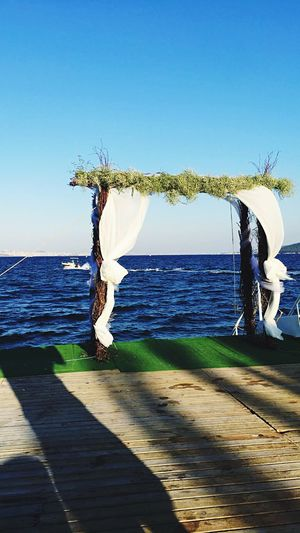 Ada sahillerinde bekliyorum Sea Water Tranquil Scene Nature Day First Eyeem Photo
