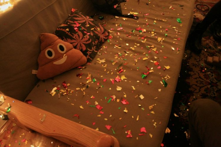 Party Party Time Confetti Poo Emoji Emoji Celebration New Year Indoors  Celebration Party - Social Event No People Food Day
