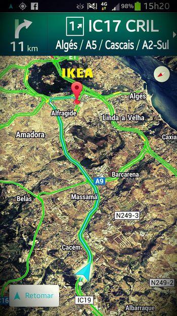 A caminho do IKEA