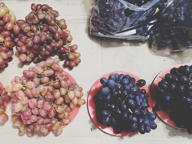 Grapes Still Life At The Market
