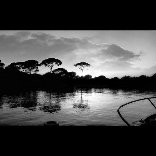 Home Is Where The Art Is Cadiz River View Riverscape Riverview River Blackandwhite Trees Mirror Nature Relax Sky Silence Breathe Blackandwhite Photography Mytown Sunset Life