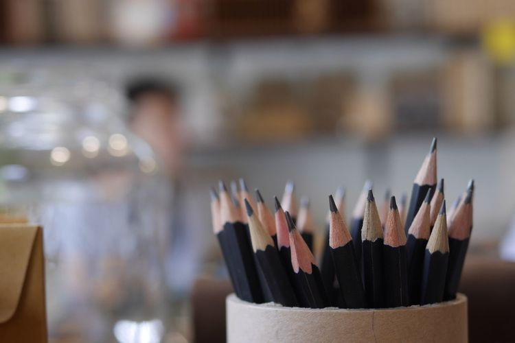Large Group Of Objects Art And Craft Indoors  Focus On Foreground Still Life Close-up Pencil No People Choice Craft Creativity Table Selective Focus Wood - Material Collection Desk Organizer