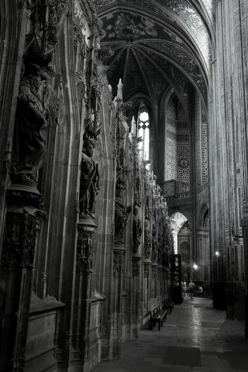 Cathédrale Sainte Cécile à Albi Blackandwhitephotography Black And White Photography Religious Architecture Cathedral Church Architecture Architecture_bw Architecturephotography Architectureporn Archilovers Architecturelovers Cathédrale Sainte-Cécile Indoor Black & White Blackandwhite Black And White