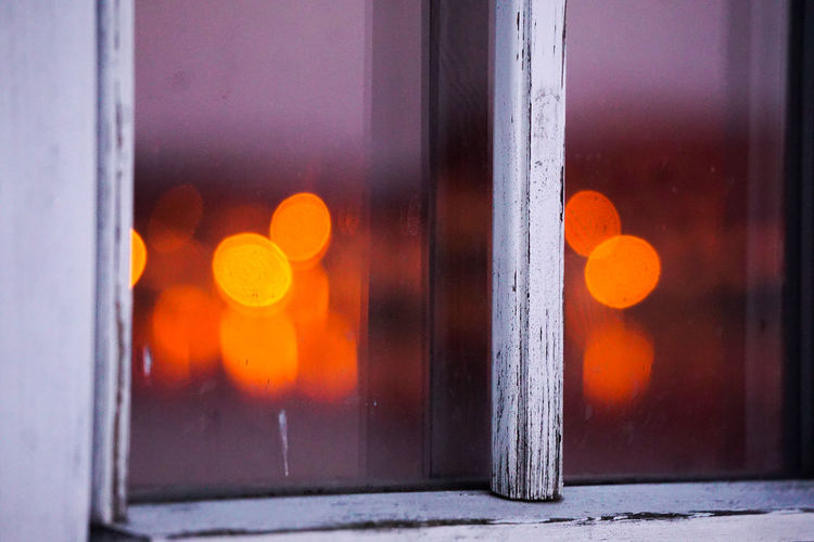 bokeh in an old window Window Bokeh Bokeh Photography Reflection Reflections Light Color Colorful Backgrounds Window Close-up Architecture Built Structure Condensation