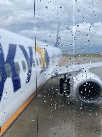 カッコ良い*\(^o^)/* Skymark Airlines Skymark Window Drop Glass - Material Wet Water Full Frame Transparent