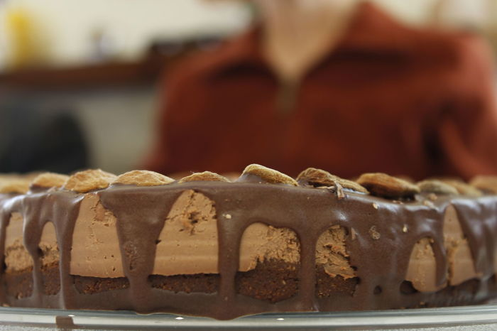 Almonds Birthday Cake Cake Chocolate Cake Eating Food Heart Cake Indulgence Love Cake Natural No Sugar Preparation  Temptation Vegan Cake Vegetarian