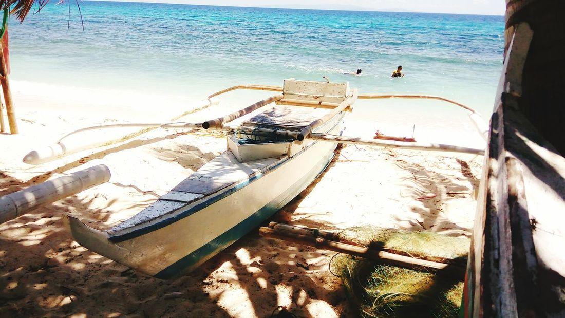 Kinabuhi sa Isla. Mobilephotography Selinog Island DapitanCity Phillipines Water Nautical Vessel Sea Beach Moored Sand Outrigger Sunlight Sky Horizon Over Water Fishing Boat Fishing Net Boat