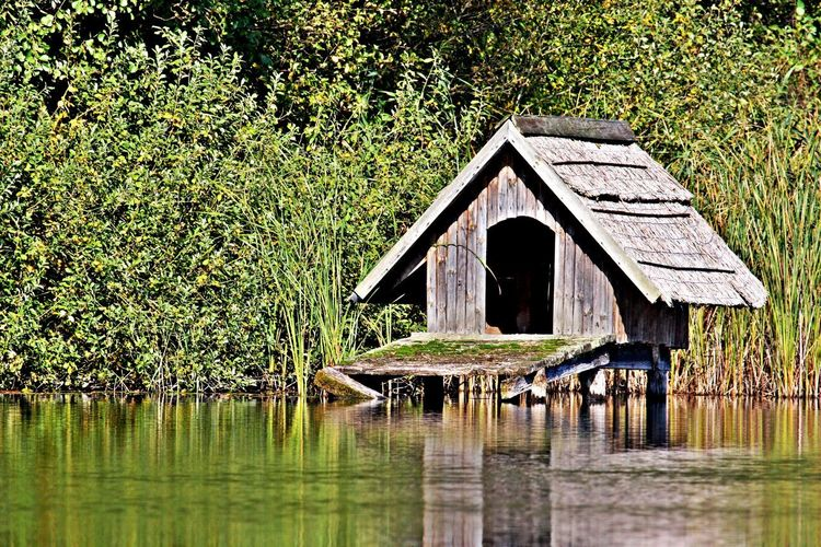 Architecture Built Structure Water Lake Waterfront Tranquility No People Hut Goose Hut Outdoors Tranquil Scene Day Wood - Material Nature Bird House Goose House