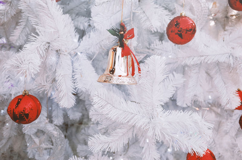 Celebration Christmas Holiday Christmas Decoration Decoration Christmas Ornament christmas tree Event Tree Cold Temperature Hanging Winter No People White Color Snow Holiday - Event Close-up Celebration Event Christmas Market