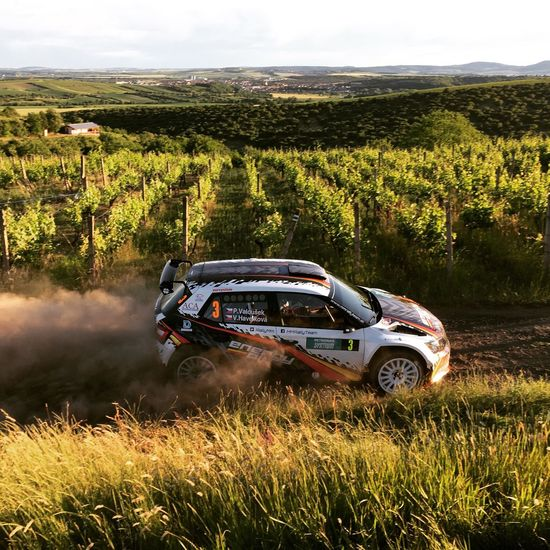czech rally in wineyards Hustopece Rally Nature Wineyard Hill Panorama Sport