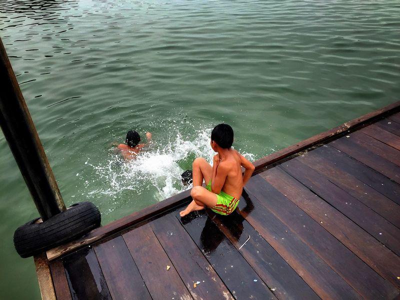 Aborigine  Swimming Time Oceanview Children Photography Children Playing Enjoying Life Water Splash!