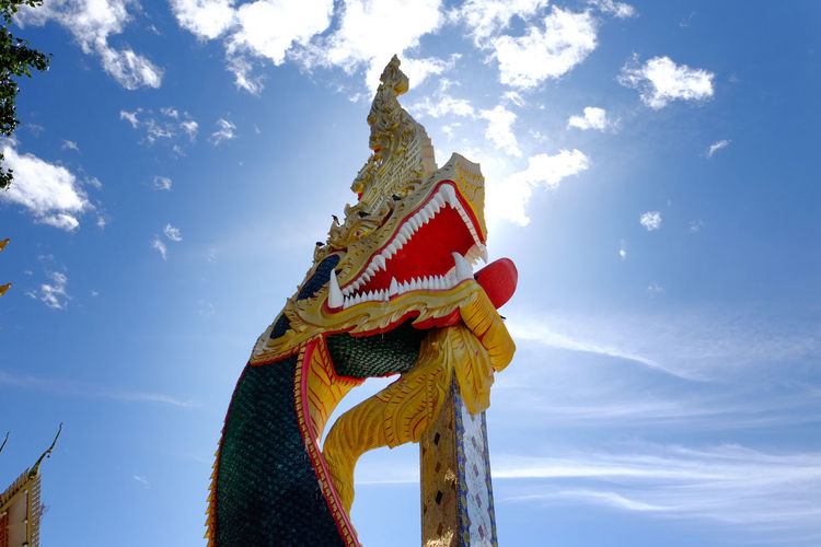 The great naga statuary in phon phisai district, nongkhai, thailand