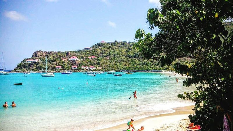Crystal Clear Waters Relaxing Landscape Colors Luminous Naturelover Water Boat Sunny Saint Barth Waves Holiday Paradise