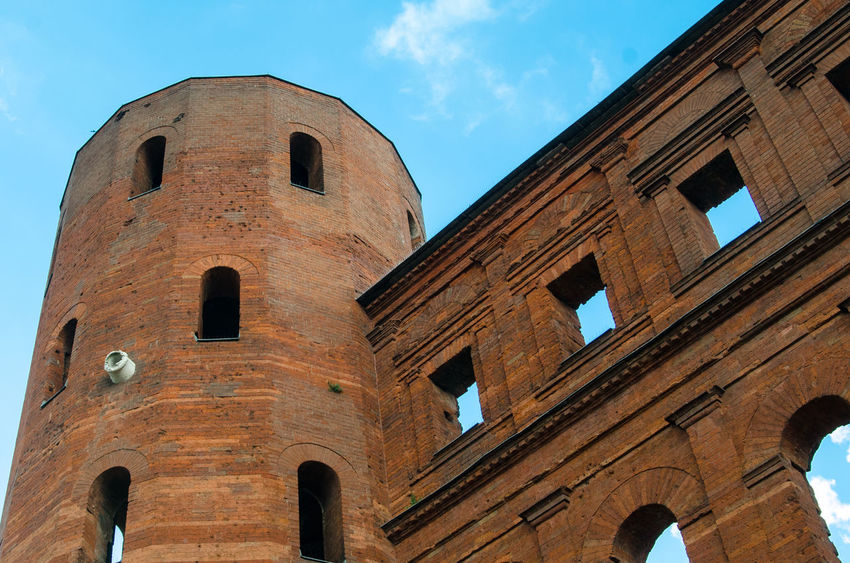 Architectural Column Architecture Blue Blue Sky Built Structure Column History Italy Porta Palatina Turin Showcase June