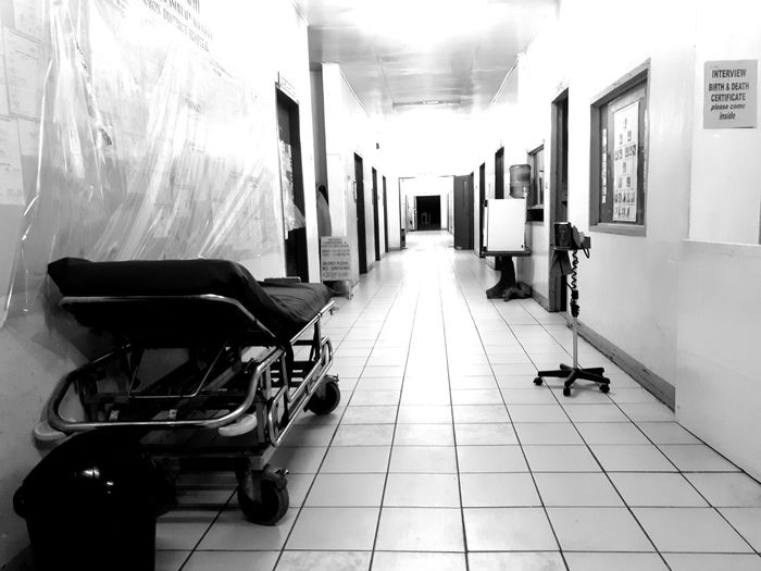 Hallway .. Indoors  Architecture Black And White Silence Hospital Hospit Black And White Friday