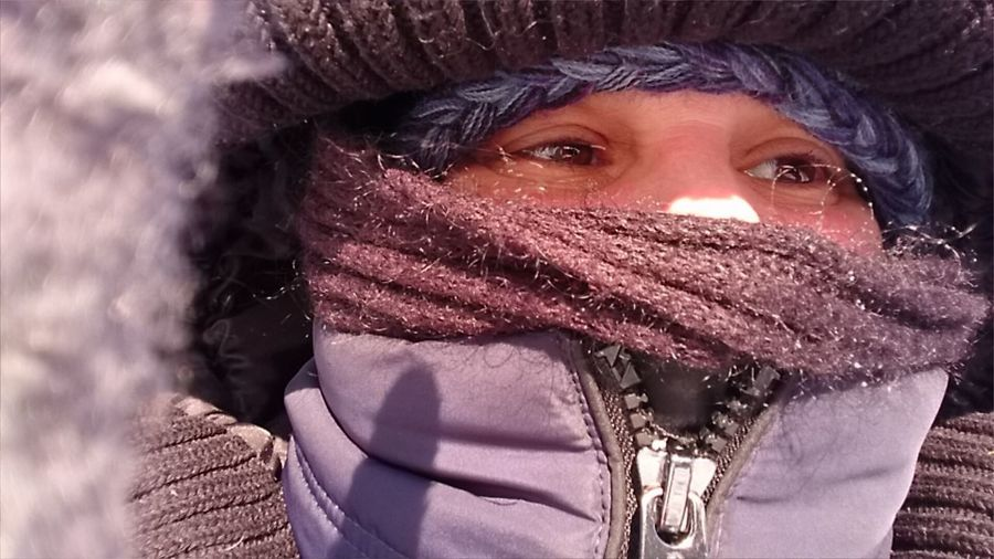 One Young Woman Only Portraitphotographer Outdoors Cold Temperature Close-up Frozen Winter Mypointofview Woman Portrait Looking Away Human Face Warm Clothing The Portraitist - 2018 EyeEm Awards