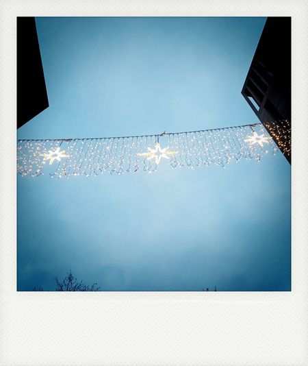 Christmas Ornament Christmas Decoration Polaroid Polaroid Pictures Water Backgrounds Built Structure Building Exterior Architecture Blue Outdoors Sky No People Low Angle View Cold Temperature Day